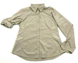 Columbia OMNI-SHADE Women's Button Up Shirt Size M RIPSTOP Roll Tab Long... - $14.27