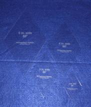 """60° Diamond 4 Pc Set- 2"""",3"""",4"""",5"""" Actual side sizes Acrylic 1/8"""" Quilt T... - $22.99"""