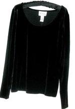 WOMEN'S NEW  BLACK PLUSH TOP SIZE M (QVC) - $8.00