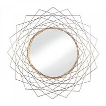 Golden Geometric Wall Mirror - $66.05