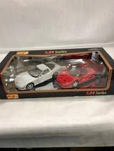 1:24 series Maisto Vintage Collectible die cast car red white pair 32106 NIB - $14.26