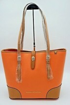 Dooney & Bourke Claremont Dover Coral Orange Leather Shoulder Bag Tote N... - $198.00