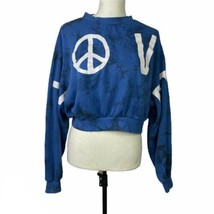 H&M Divided Love Peace Cropped Tie Dye Sweater Size Medium - $24.53