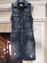 GUESS Sleeveless Distressed Jean Dress Size 2 - $49.50