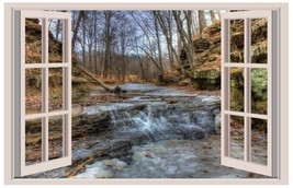 Rapids at Pewit's Nest Natural Area 3D Window View Decal WALL STICKER Ar... - $6.92+