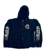 Harley Davidson Las Vegas Men's Small Full Zip Hoodie Sweatshirt Graphic... - $18.69