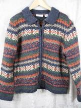 Croft & Barrow Women's Cardigan Zipper Sweater Size L Beautiful Color Combo - $13.89