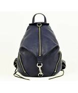 Rebecca Minkoff Full Size Julian Leather Backpack - Navy Blue (Retail $295) - $193.05