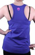 Neff Women's Royal Blue Pink Solidarity Tank Top Shirt image 3