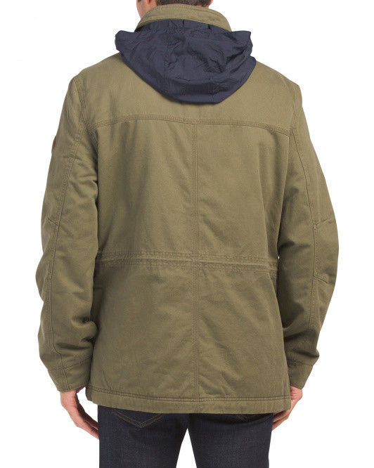 NEW Men's Timberland Military Jacket Shelburne Insulated W/ Hood  M65  M - $168