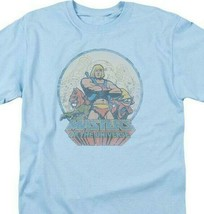 He-Man Masters of the Universe Retro 80s cartoon distressed blue t-shirt DRM267 image 2