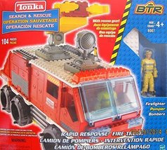 Tonka BTR Search & Rescue RAPID RESPONSE FIRE TRUCK 104 Pieces BUILDING ... - $98.95