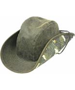 Henschel Cotton Oilcloth Safari Distressed Look Chincord Camo Underbrim ... - $52.00