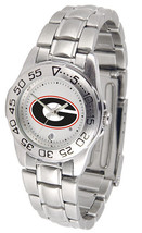 Georgia Bulldogs Licensed Women Ladies Sport Steel Band Watch - $66.03
