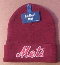 NEW YORK METS RED WINTER HAT WOMENS ONE-SIZE (NWT) - $7.00