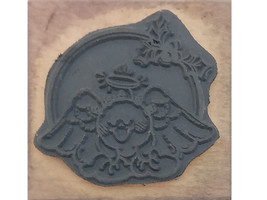 Stampendous 1990 Holly Angel Wood Mounted Rubber Stamp #D61 image 2