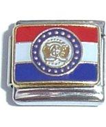 Missouri State Flag Italian Charm - $1.97