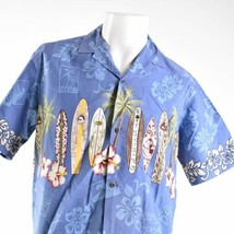 Royal Creations Large Surfboards North Shore Hibiscus Hawaiian Aloha Shirt - $29.69