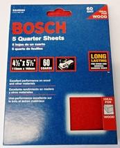 "Bosch SS4R060 5 Piece 60 Grit 4-1/4"" x 5-1/2"" General-Purpose Sanding Sheets - $5.94"