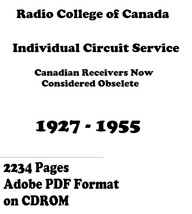Radio College of Canada Individual Circuit Service * DVD * PDF * 1927-1955 - $9.99