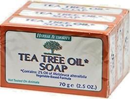 Tea Tree Oil Body  100% Natural Melaleuca Antifungal Herbal Pure Soap 3 ... - $12.95