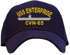 USS Enterprise CVN-65 Embroidered Baseball Cap - Available in 6 Colors -... - $25.95