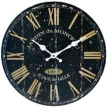 MDF Black French Wall Clock; 76111 - $18.20