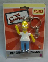 """The Simpsons BENDABLE HOMER SIMPSON 3"""" KEYCHAIN NEW IN PACKAGE - $14.85"""