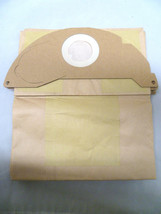 PACK OF 5 VACUUM CLEANER BAGS TO FIT KARCHER A2000 A2099 A2054 A2054MW G... - $6.25