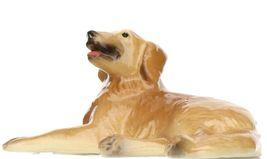 Hagen Renaker Miniature Dog Golden Retriever Lying Ceramic Figurine image 6
