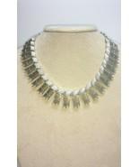 Gorgeous Sarah Coventry 1962 MID-CENTURY MODERN DESIGN Silver Tone Neckl... - $29.75