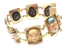 Vintage! Estate 18k Yellow Gold Japanese Toshikane 7 Lucky Gods Bracelet - $4,950.00