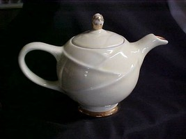 Vintage 1950's Hall Pottery Yellow 6 cup Apple Teapot No Chips Model 0218 - $69.00