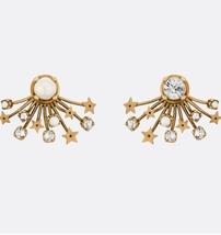 SALE* NEW AUTH Christian Dior 2019 CD DIORAINBOW CRYSTAL LOGO STAR Earrings image 12