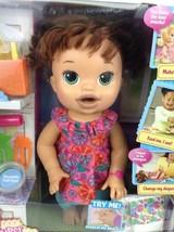 Baby Alive Super Snacks Snackin Sara Brunette Doll Talks Eats Wets 2015 Hasbro image 2
