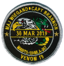 USMC MAWTS-1 - HMLA-367 Wiegand-Brannon Memorial Patch- 3'' with velco N... - $19.79