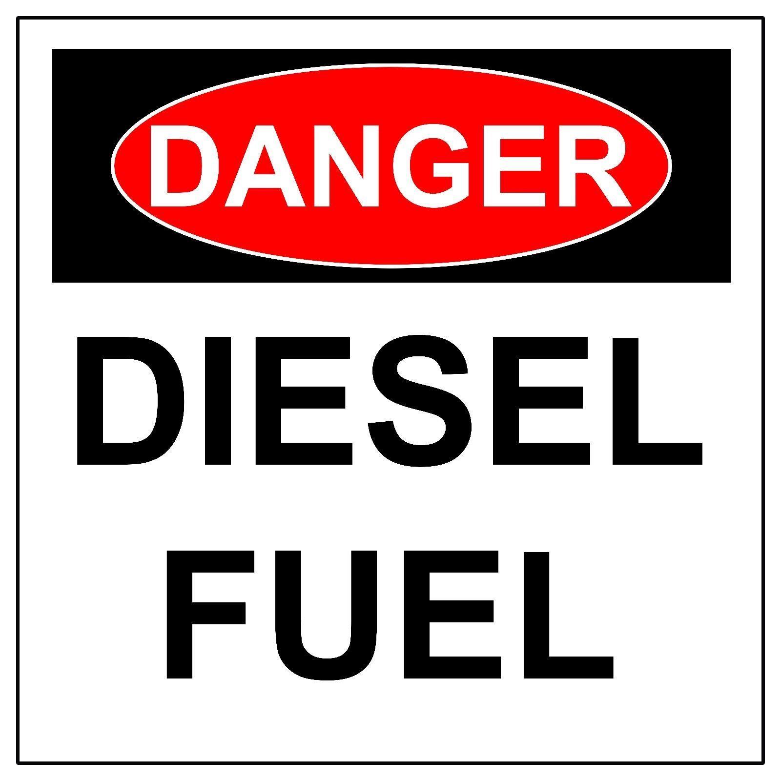 Danger Diesel Fuel Sign, Aluminum Hazard Metal Safety Warning UV Signs