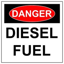 Danger Diesel Fuel Sign, Aluminum Hazard Metal Safety Warning UV Signs - $57.55+