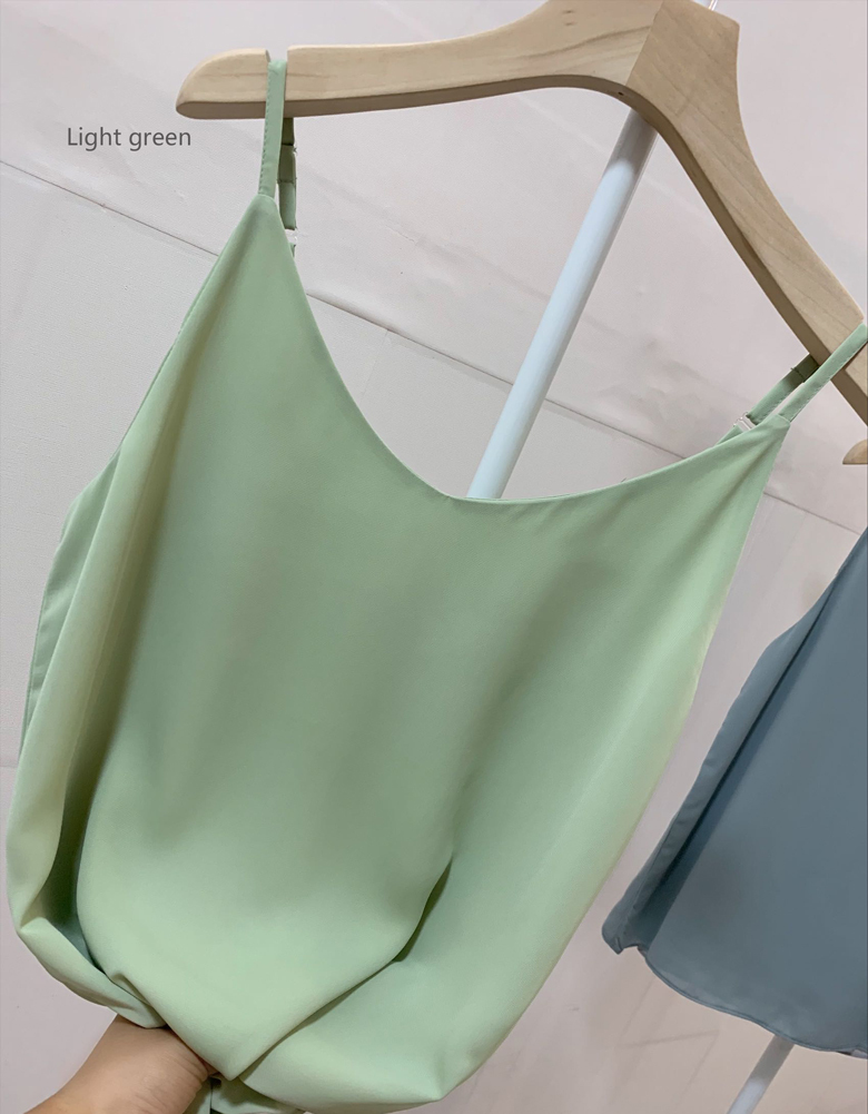 Chiffon top lightgreen