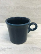 "Fiesta HLC Homer Laughlin Cobalt Blue 10.25 oz Coffee Mug Cup, 3-5/8"" x 3.5"" - $14.84"