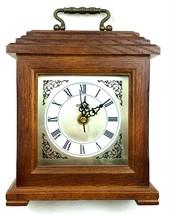 WORK Vtg Seiko Wooden Quartz Clock QHG301BCH Mantel Shelf Desk Japanese Movement - $44.99