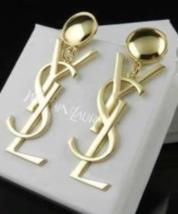 YSL Statement Earrings Gold tone Pierced - $58.00