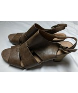 G.H. Bass & Co 'Leigh' Brown Slingback Heels Shoes Sz 10 M - $39.62 CAD