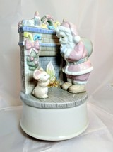 Vintage Christmas Summit Collection Santa Mouse Fireplace Jingle Bells M... - $12.34