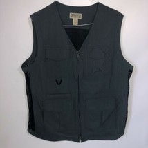 Mens Duluth Trading Co Utility Fishing Vest Green Zip Up Multi Pocket Si... - $39.59
