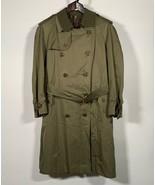 Burberry Kensington Belted Trench Coat Olive Green Men England Sz 50 S M... - $249.99