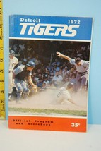 1972 Detroit Tigers Official Baseball Scorecard Scored v A's - $9.99