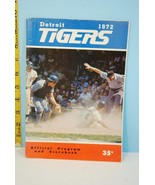 1972 Detroit Tigers Official Baseball Scorecard Scored v A's - $9.99