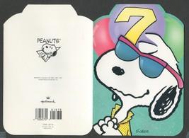 1 Vintage Greeting Card Kid Age 7 Happy Birthday Snoopy Theme trademark ... - $2.00