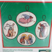 Dimensions Blessed Nativity Ornaments Counted Cross Stitch Kit Karen Avery New - $19.34